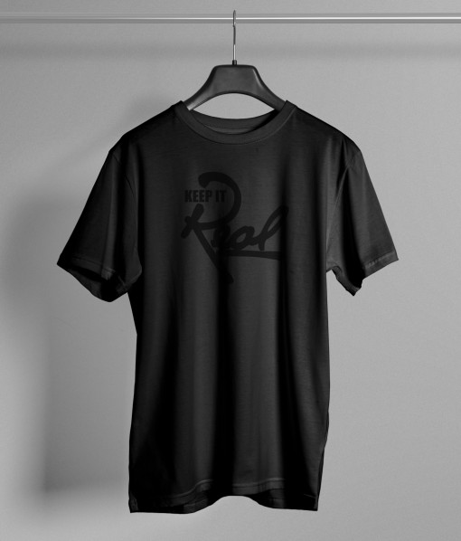 Insignia T-Shirt / Black & Black
