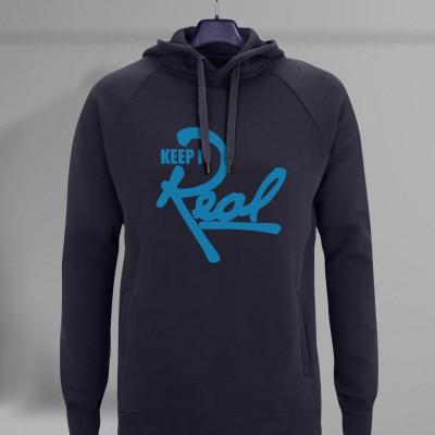 Insignia Roadstar Pullover Hoodie / Navy Blue & Light Blue