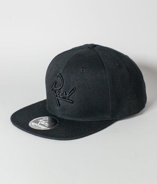 Insignia Snapback / Black & Black