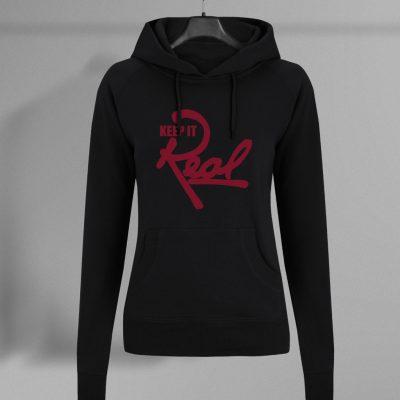 Insignia Regal Pullover Hoodie / Black & Red