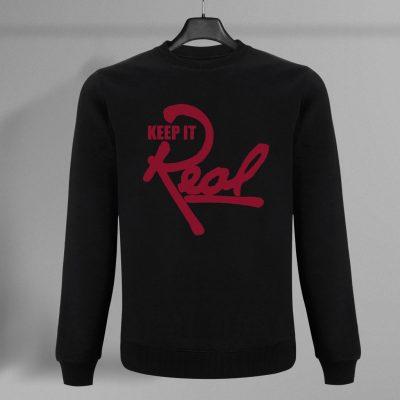 Insignia Sweatshirt / Black & Red